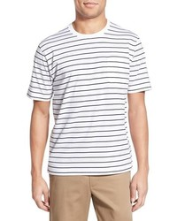 Brooks Brothers Stripe Supima Cotton Crewneck T Shirt