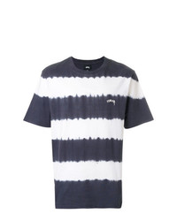 Stussy Striped Logo T Shirt