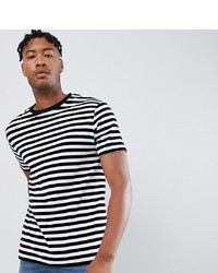 ASOS DESIGN Tall Striped Relaxed T Shirt In Velour