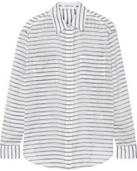 Emmanuelle striped gauze shirt medium 276084