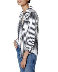 Olivia paneled stripe shirt medium 436429
