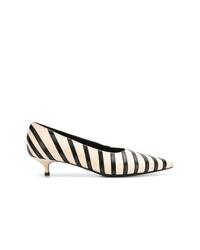 Sonia Rykiel Striped Pointed Kitten Heels