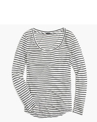J.Crew 10 Percent Long Sleeve T Shirt In Stripe