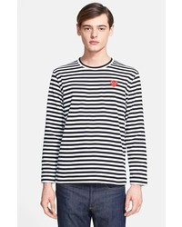 Comme des Garcons Play Stripe Long Sleeve T Shirt