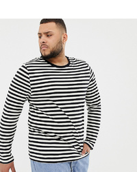 ASOS DESIGN Plus Long Sleeve Stripe T Shirt