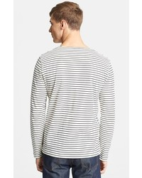 A.P.C. Stripe Cotton Crewneck T Shirt