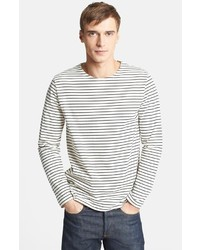 A.P.C. Stripe Cotton Crewneck T Shirt