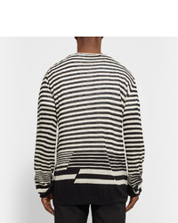 Haider Ackermann Striped Cotton And Cashmere Blend T Shirt