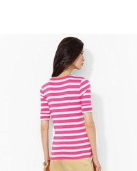 Ralph Lauren Striped Cotton Crewneck Top