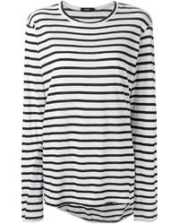 Bassike Striped Long Sleeve T Shirt