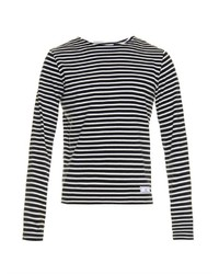 Ami Striped Long Sleeved T Shirt