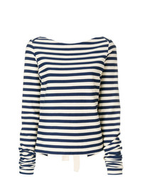 Erika Cavallini Striped Tie Back Blouse