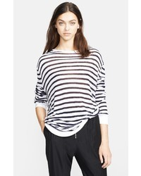 T by long sleeve stripe tee medium 7764