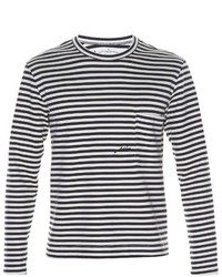 Golden Goose Deluxe Brand Wade Striped Long Sleeved T Shirt