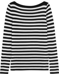 Michael Kors Michl Kors Collection Striped Merino Wool Sweater White