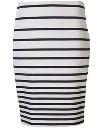 Halston Heritage Striped Skirt