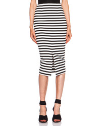 Nicholas Monaco Stripe Poly Blend Pencil Skirt