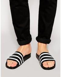 Adilette Textured-rubber Slides adidas Originals Optse1Ykld