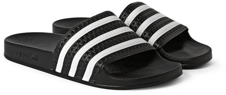 ... adidas Originals Adilette Textured Rubber Slides ... cffad1418