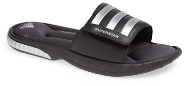 7040ea0ffabe ... Black Horizontal Striped Rubber Sandals adidas Superstar 3g Slide  Sandal ...