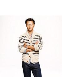 Stripe cotton shawl cardigan medium 11514