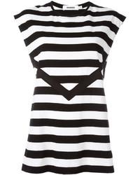 Striped sleeveless t shirt medium 3650352