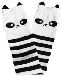 White and Black Horizontal Striped Socks