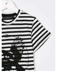 John Richmond Kids Striped Eagle Print T Shirt