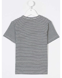 No21 Kids Striped Logo Print T Shirt