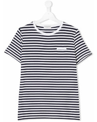 Paolo Pecora Kids Teen Striped Short Sleeve T Shirt
