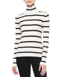 A.L.C. Ollie Striped Turtleneck Sweater
