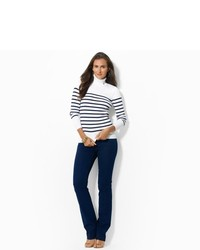 Ralph Lauren Striped Cotton Turtleneck