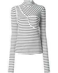 MM6 MAISON MARGIELA Turtleneck Striped T Shirt