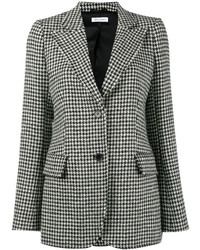 Isaacs houndstooth wool blend blazer medium 6834167