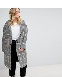 Asos Curve Asos Design Curve Slim Coat In Coloured Check