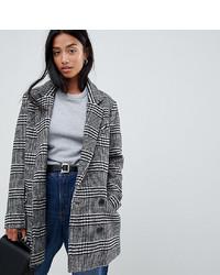 Asos Petite Asos Design Petite Slim Coat In Check