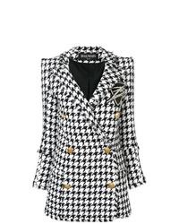 Balmain Double Breasted Tweed Coat