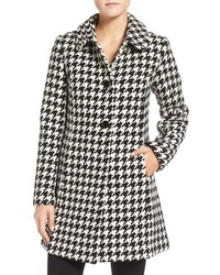 Kate Spade New York Houndstooth Wool Blend Coat