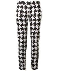 Houndstooth straight leg trousers medium 31250