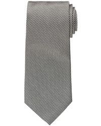 White and Black Houndstooth Tie