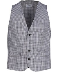 White and Black Houndstooth Waistcoat