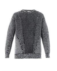 Monochrome angora wool sweater medium 124657