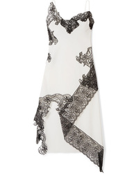 White and Black Lace Cami Dress