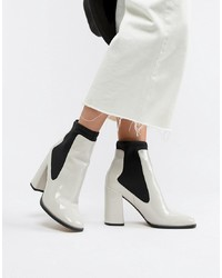 ASOS DESIGN East Side Patent Ankle Boots