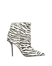 Saint Laurent Pier Zebra Print Booties