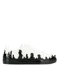 Philipp Plein Contrast Low Top Sneakers