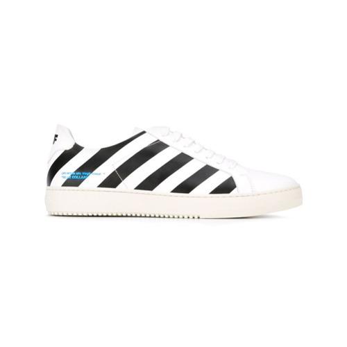 ... Off-White Diagonal Stripe Sneakers ... e042c001a760