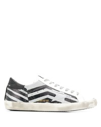 Golden Goose Striped Low Top Sneakers