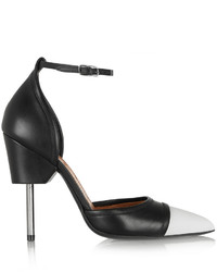 Graphic pumps in black and white leather medium 424221