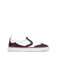 Thom Browne Leather Slip On Wingtip Trainer